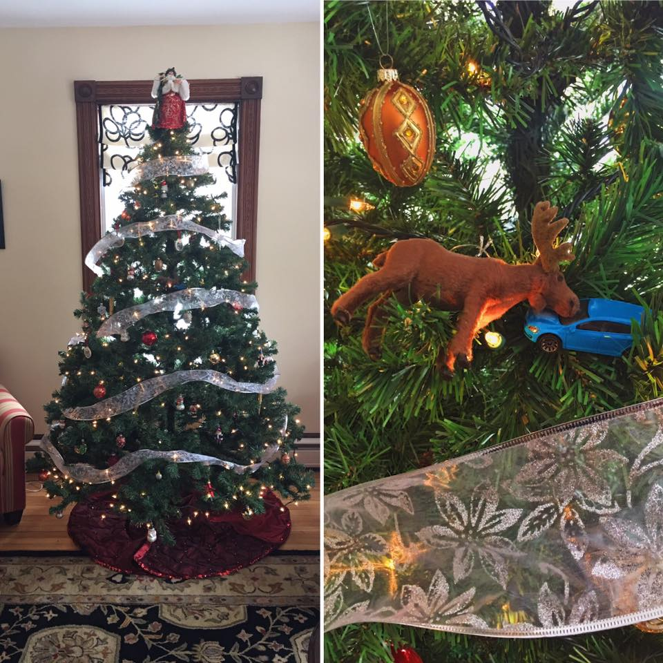 The Christmas Tree at Brewster House Inn in Freeport is decked out in Maine themed ornaments. Don't you love the Christmoose ornament?! Given to the innkeeper by a guest!