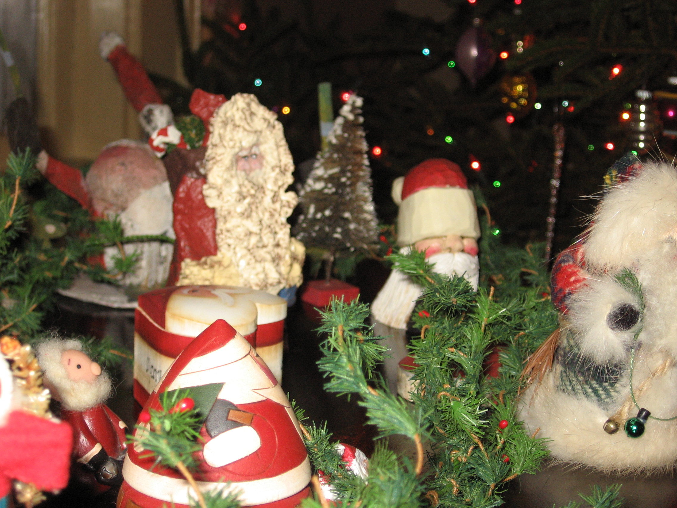 From traditional to international, look for some beautiful Santas at the Newcastle Inn.