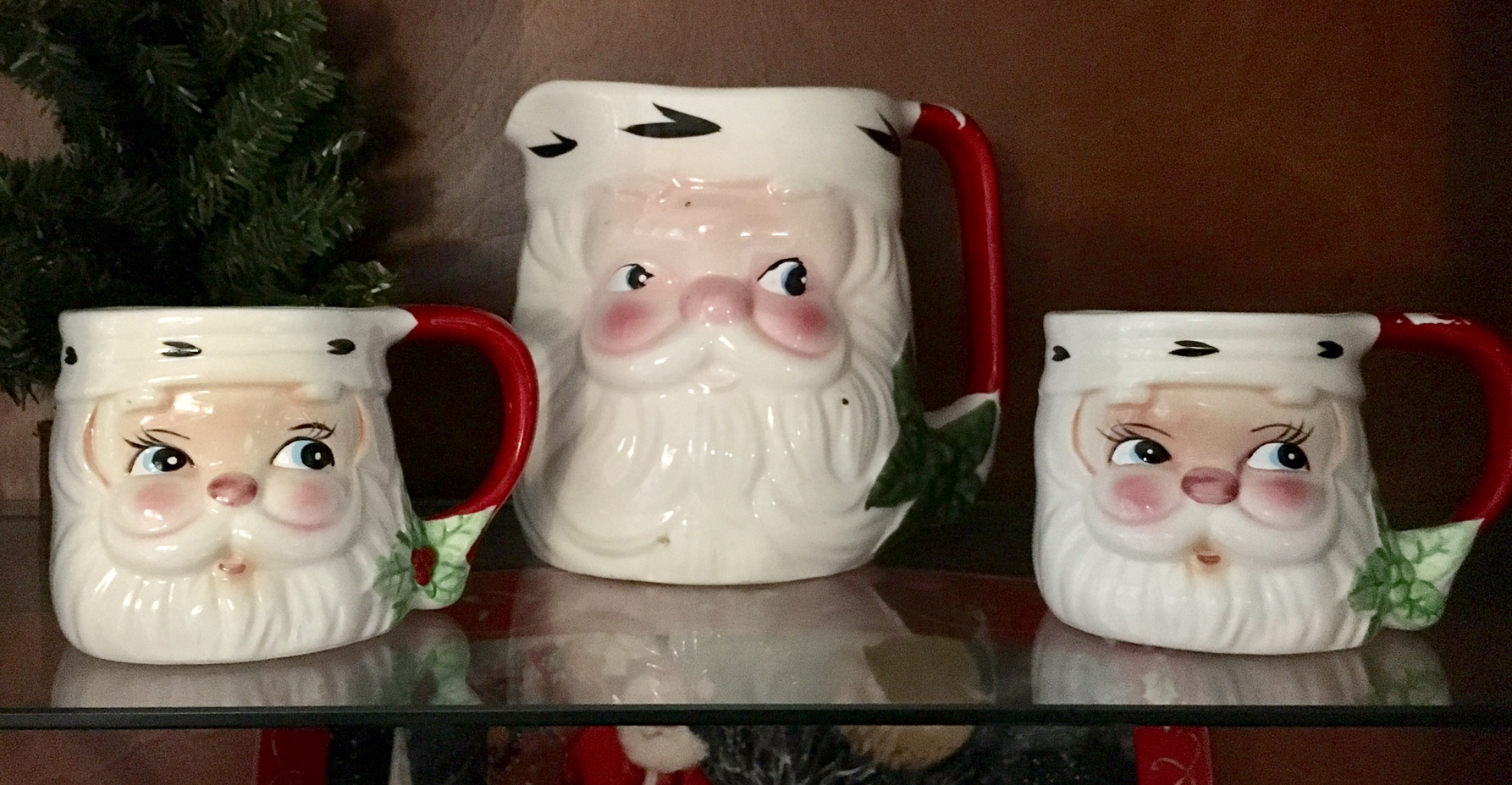 Remember these? A wonderful collection of Santa Mugs offer a blast of the past at Aysgarth Station B&B.