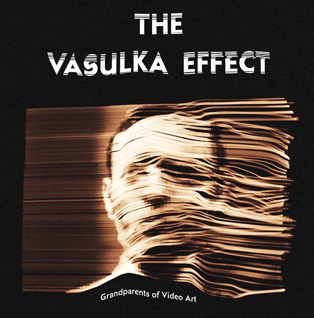 Poster for the film The Vasulka Effect.  Documentary about the legendery artists Steina And Woody Vasulka.  #thevasulkaeffect #posterart #icelandicfilm #sagafilm