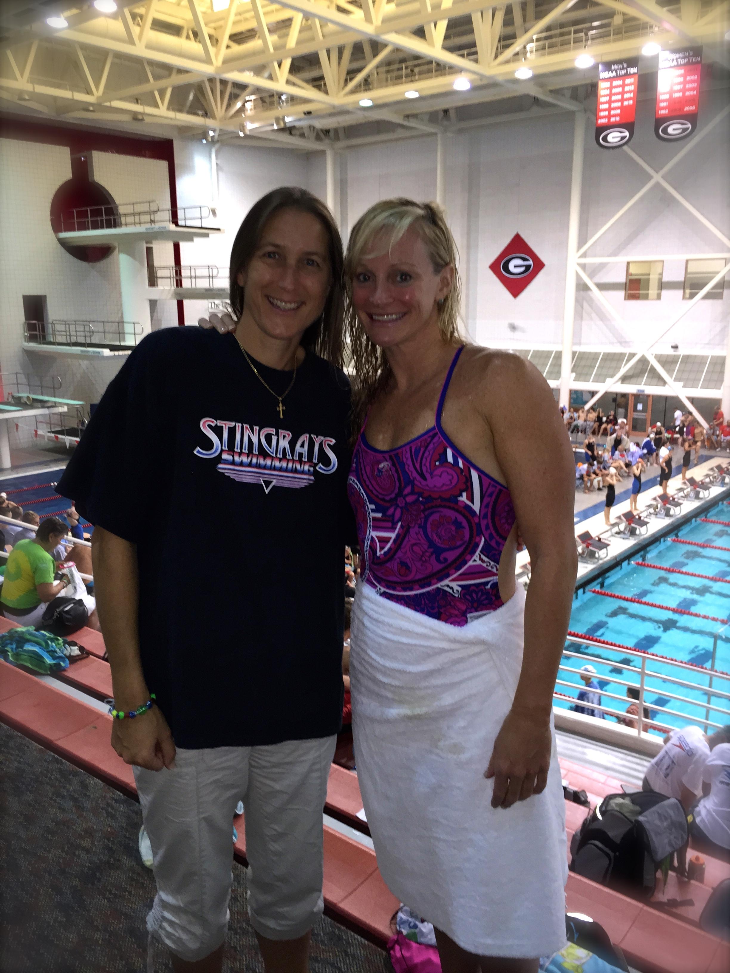 Long-time UGA swimmer buds Caroline Horne and Erika