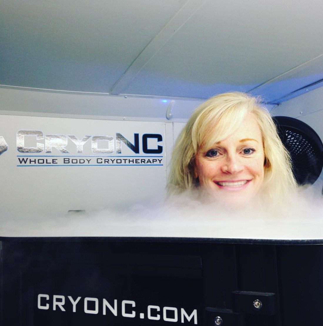 3-minute cryotherapy session