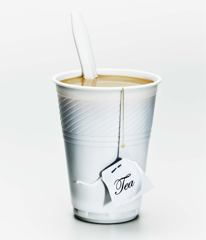 White plastic cup