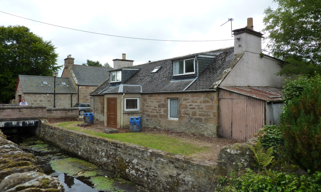 The Cottage in Dornoch where 8 people lived! (the top floor is a modern extension)
