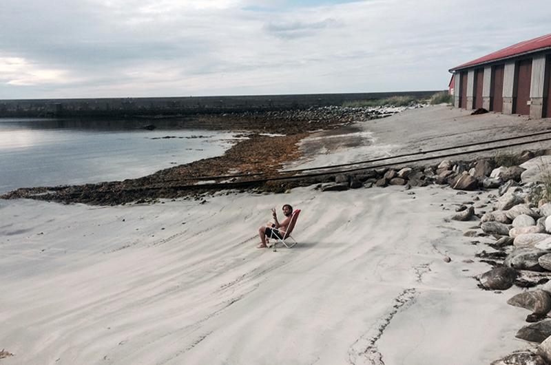 Espen hilser fra sandynene i Flø!