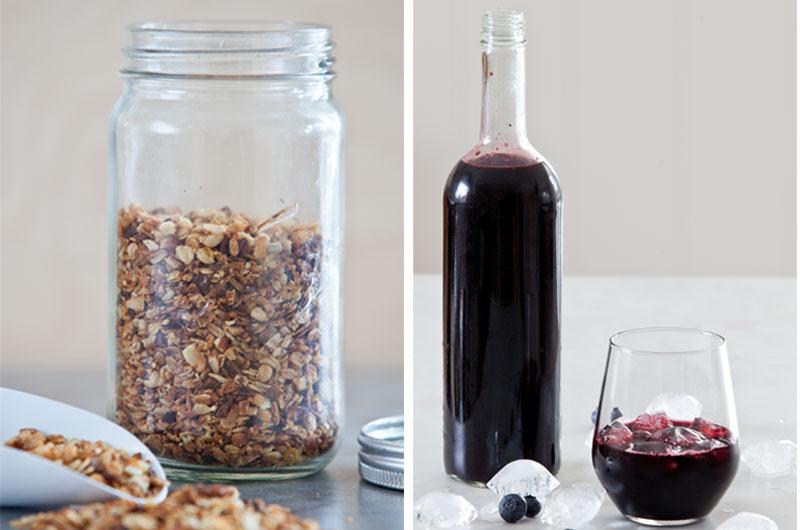Spiselige og magevennlige gaver? Lag Müsli med appeslin eller hjemmelaget blåbærsaft! Oppskriftene finner du i boka  LavFODMAP - Magevennlig mat