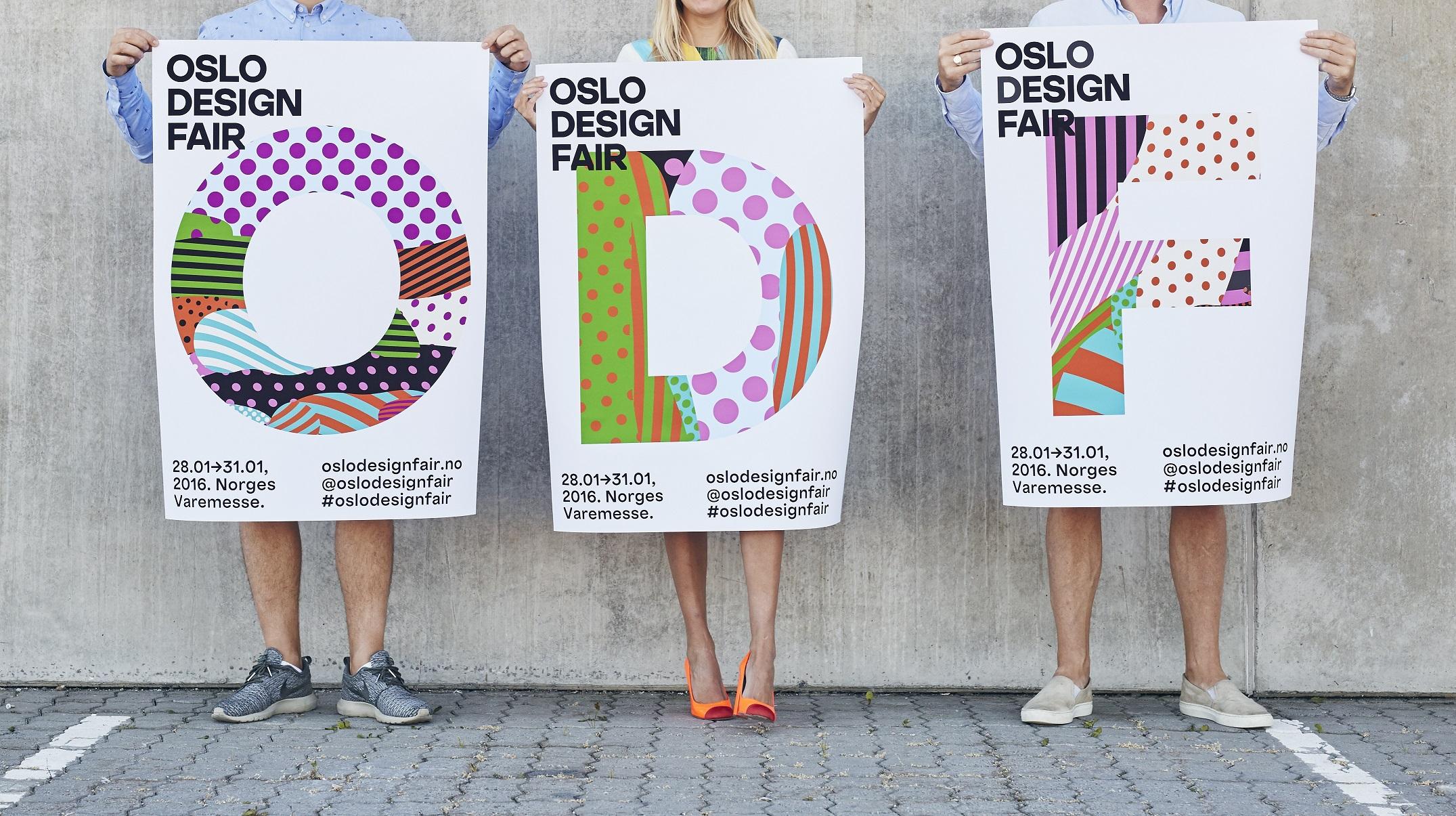 Oslo Design Fair´s nye logo. Designet av Bjelke+Yang. Foto: Einar Asla