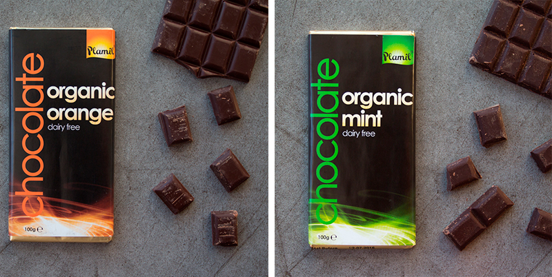 Hvem liker vel ikks sjokolade? Disse deilige sjokoladene er både melkefri, laktosefri, glutenfri, hvetefri og økologiske. Trykk på bildet for å komme til produktene.