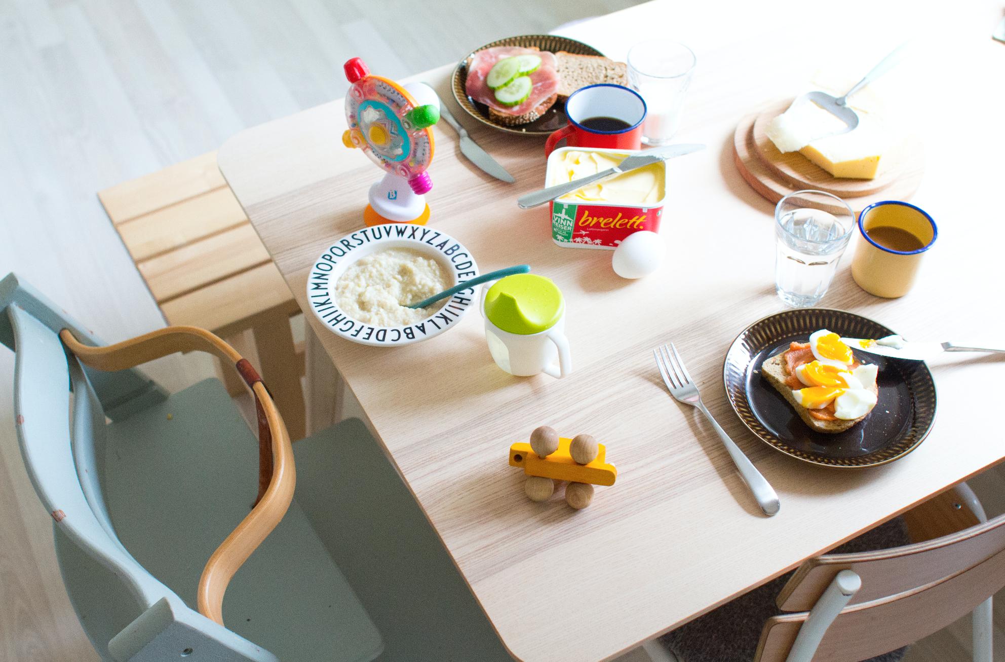 Matglede for meg er når hele familien er samlet rundt frokostbordet.