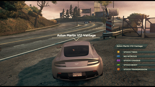 Out on the road in Need for Speed: Most Wanted which is very pretty if you have a powerful enough PC that is.