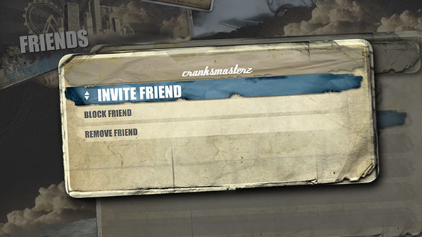 Using the invite a friend option to invite an EA account friend for a Freeburn Online session.