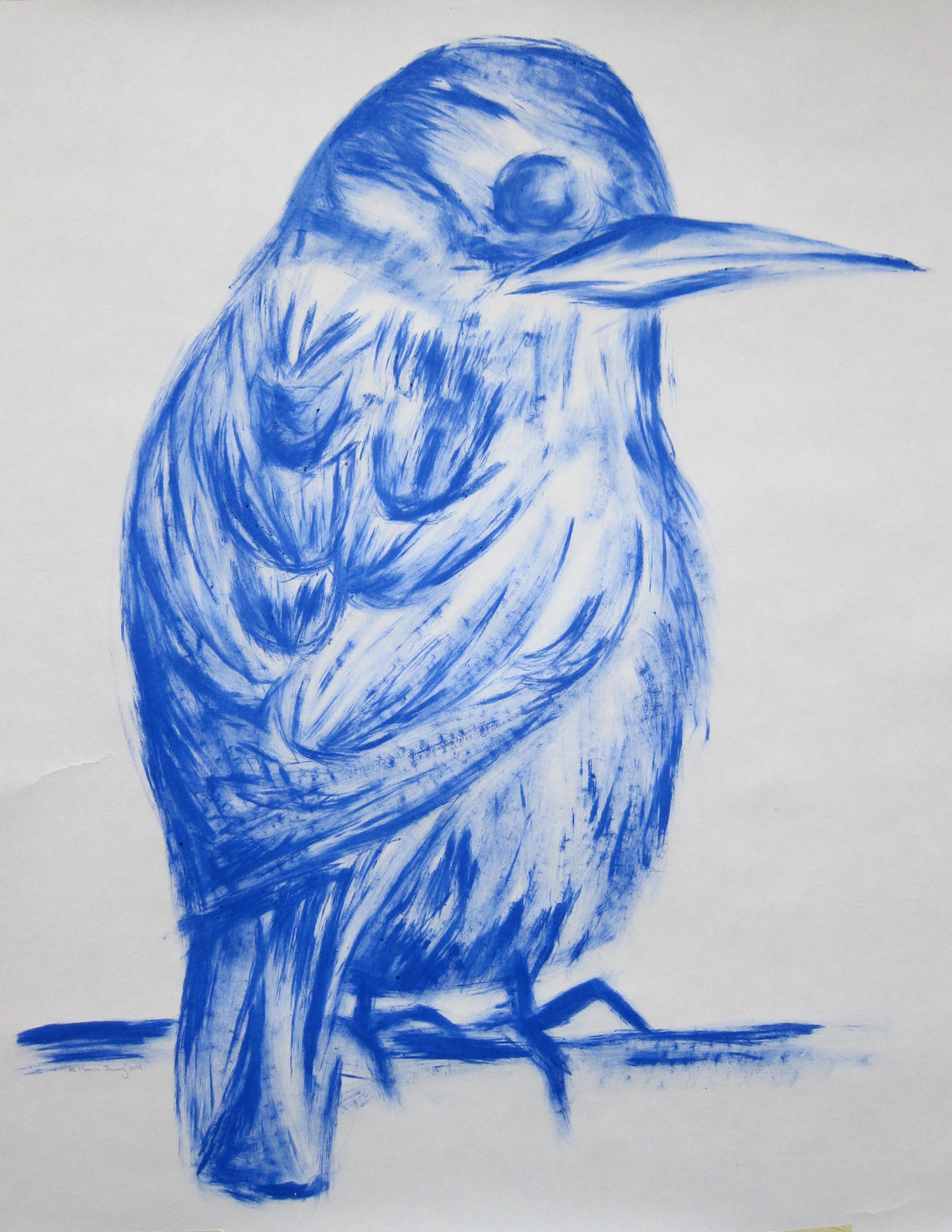 Fat bird Jan 2015 acrylic on paper 70x90.jpg