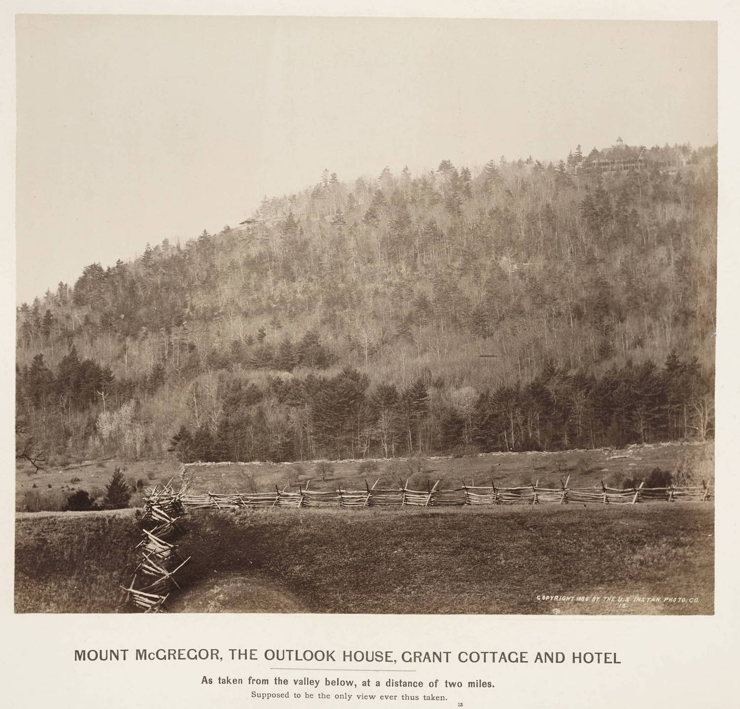 MOUNT MCGREGOR IN THE 1890s