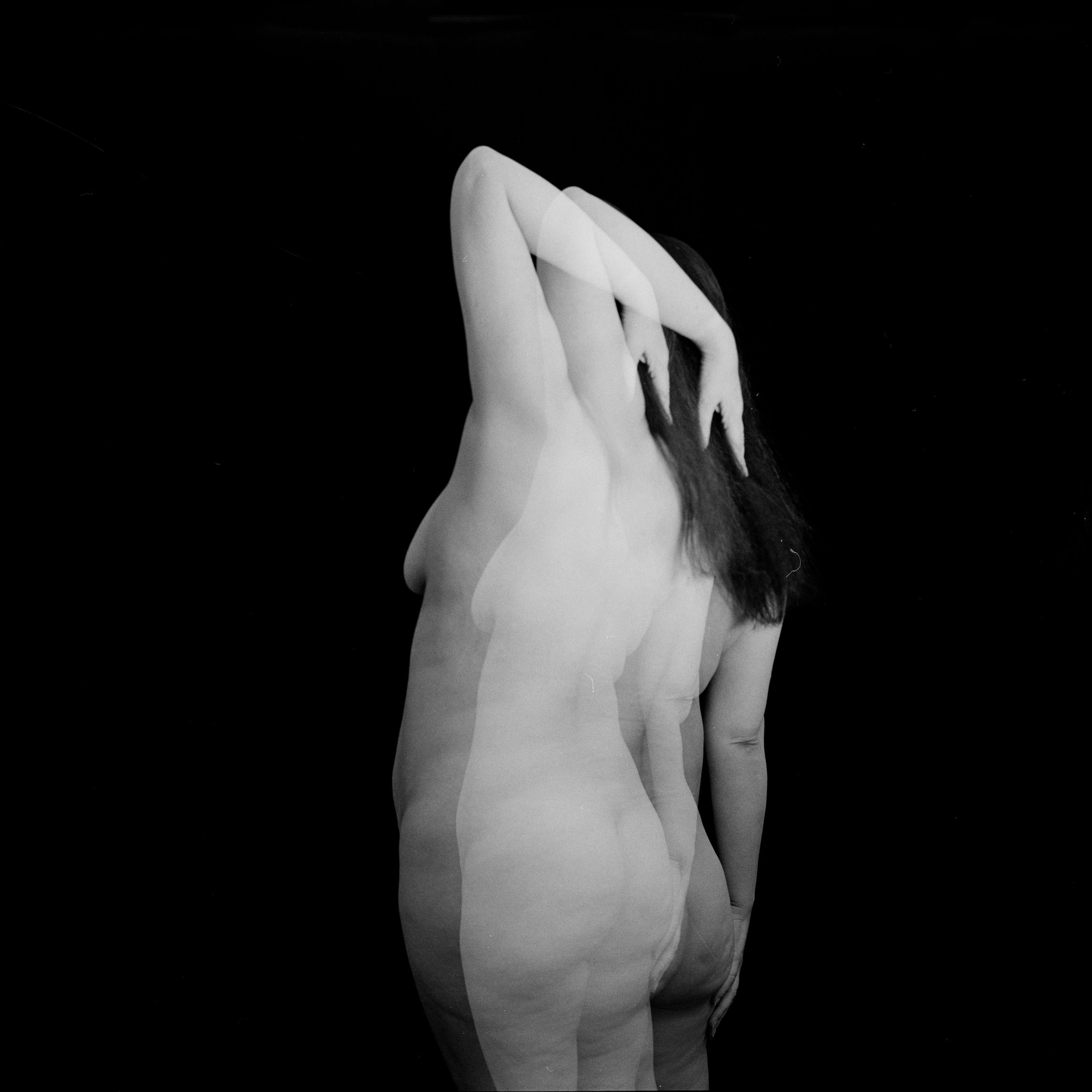 Fine art photography, The body, Figure, Nude, Black and White, Film photography