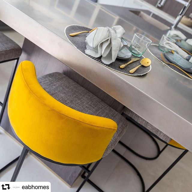 Thank you so much for sharing! So pleased you like the images! 😁  #repost @eabhomes ・・・ We just love this close up of our gorgeous bar stools at Beechmont - keep your eye out for @kirstymeredith_photography - property photographer in the making!! #kitchen #closeup #popofcolour #yellow #mustard #barstool #breakfastbar #photography #interiordesign #interiorinspo #opportunity #practice #texture #fabric #colour