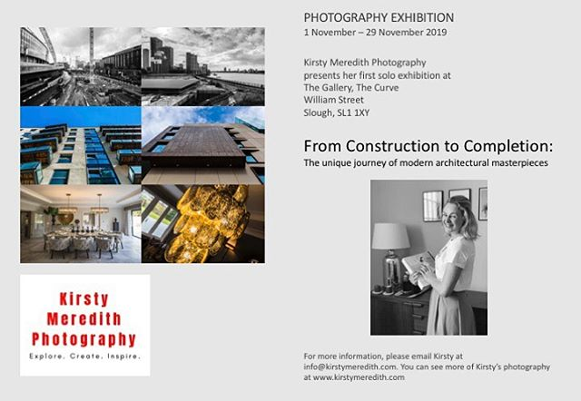 BIG ANNOUNCEMENT!  I have some very exciting news! I will be exhibiting my work for the whole of November at the Curve in Slough. This will be my first solo exhibition since graduating from university last year. I'm really excited to show recent examples from my growing portfolio alongside old favourites.  From Construction to Completion will be available to view daily in the Gallery at the Curve from Friday 1st November - Friday 29th November 2019.  For more information please email me at: info@kirstymeredith.com #photography #exhibition #photos #portfolio #curveslough #arts #slough #berkshire #exhibiting #architecture #architecturephotography #documentaryphotography #photographer #photooftheday #business #womeninbusiness #soloexhibition #instagood #instadaily #like4like #instaphoto #bigannouncement #november #archdaily #archilovers #community #photoexhibition #photoexhibit #kirstymeredithphotography