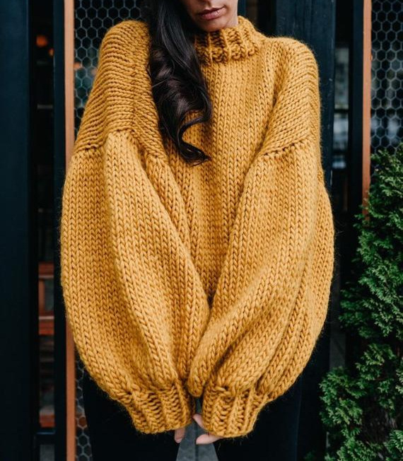 One of-a-kind butterscotch handmade sweater- only $255