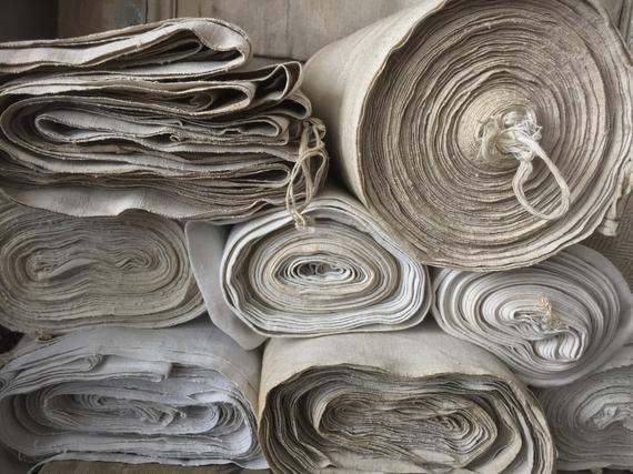 Antique French Linen by the  Yard