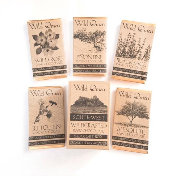 A set of raw chocolate with wild honey— wild rose