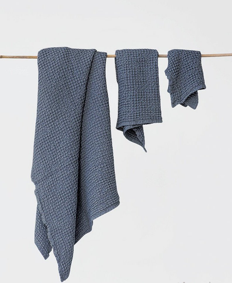 Cotton linen hand loomed  towel set . Lighter and lovelier than any terry-nonsense.