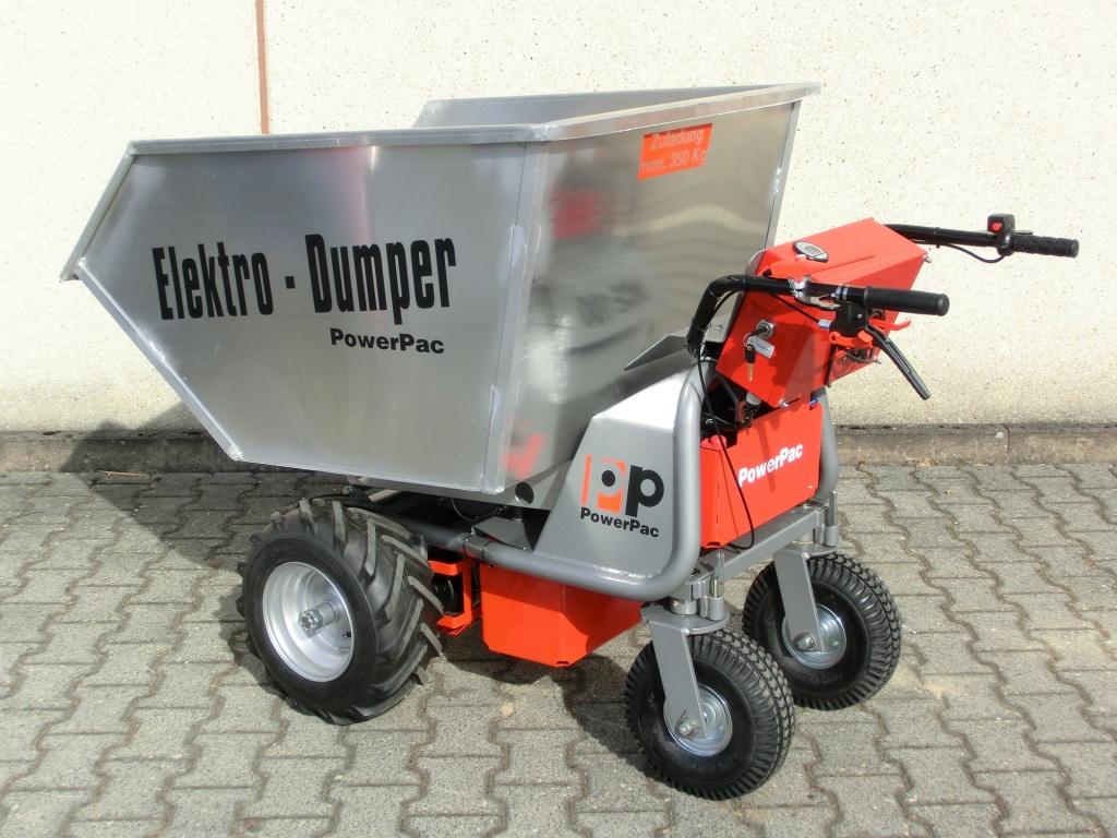 Electric wheelbarrow cargo bin pmi equipment canada