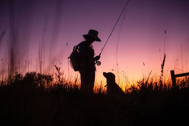Fishing with Anna and Bo is pretty much the best thing ever. Love these two. . . . . . . #flyfishing #laramie #sunset #keepitpublic #flyfishingphotography #ourwild #orvisdogs #withmytamron #flylords #thisiswy #wyomingexplored