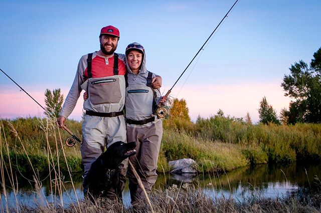 My happy lil family. . . . Thanks for the pic @patrodgerswyo . . . #flyfishing #findyourwater #ourwild #keepitpublic #wyoming