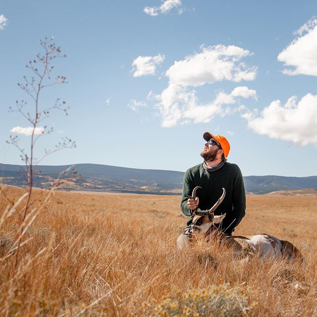 Yesterday I harvested my first pronghorn buck. It was not easy to take the life of this amazing creature but I am happy to know that he will provide us with many meals and great memories.  I did not grow up hunting, but I am so happy to have found another way to become more connected to our landscapes and public lands. Thanks for the good times and all the help @pwfoote and @mountain_taco. . . . . . . . . . . #pronghorn #hunting #speedgoat #antelopehunting #wyoming #keepitpublic #ourwild #publiclandowner #wyomingantelope #buck