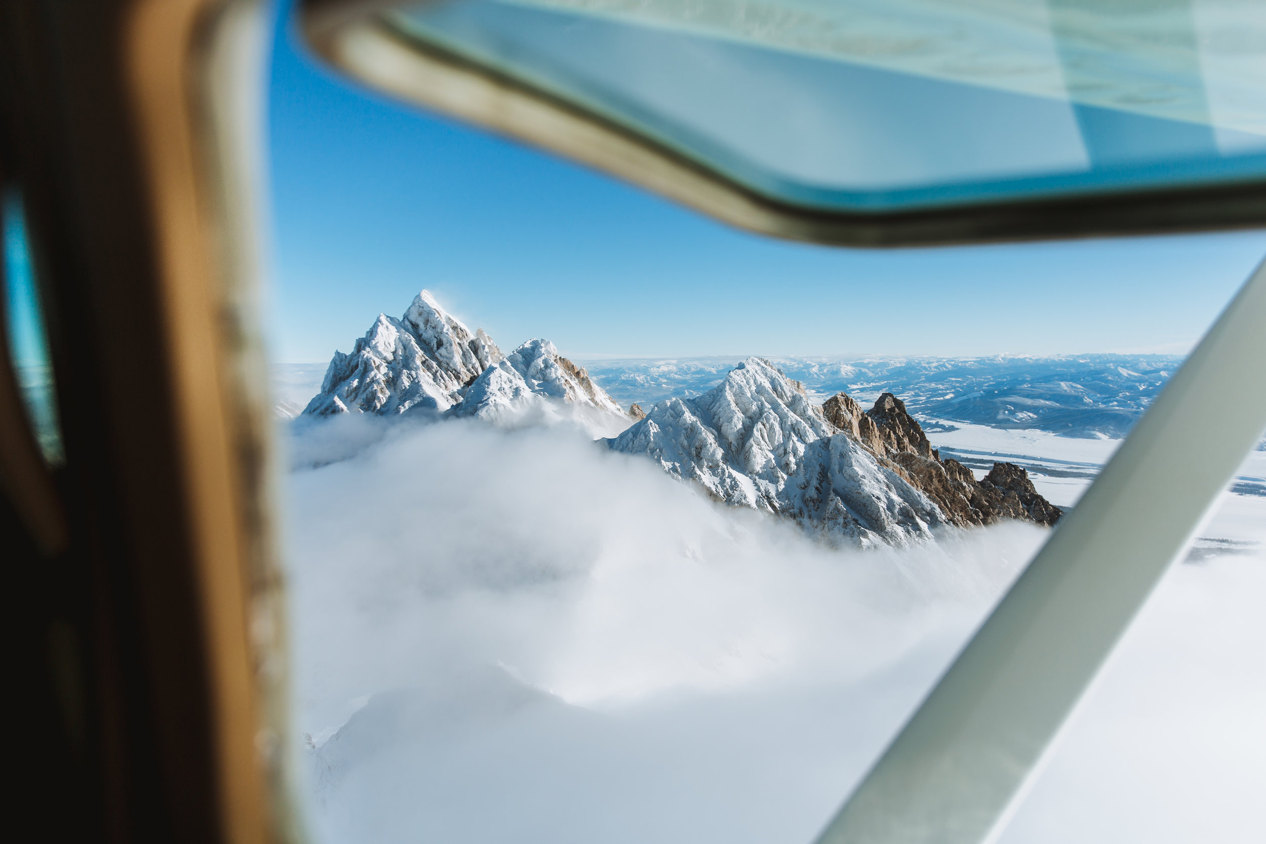 Flying Above the Grand Tetons