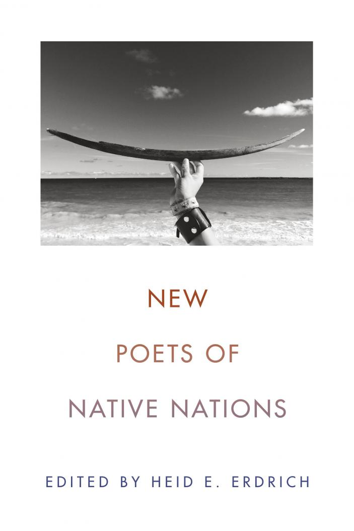 NEW POETS OF NATIVE NATIONS edited by Heid E. Erdrich    New Poets of Native Nations  gathers poets of diverse ages, styles, languages, and tribal affiliations to present the extraordinary range and power of new Native poetry. Editor Heid E. Erdrich has selected twenty-one poets whose first books were published after the year 2000 to highlight the exciting works of poets coming up after Joy Harjo and Sherman Alexie. Collected here are poems of great breadth—long narratives, political outcries, experimental works, and traditional lyrics—and the result is an essential anthology of some of the best poets writing now.   Poets include Tacey M. Atsitty, Trevino L. Brings Plenty, Julian Talamantez Brolaski, Laura Da', Natalie Diaz, Jennifer Elise Foerster, Eric Gansworth, Gordon Henry, Jr., Sy Hoahwah, LeAnne Howe, Layli Long Soldier, Janet McAdams, Brandy Nalani McDougall, Margaret Noodin, dg nanouk okpik, Craig Santos Perez, Tommy Pico, Cedar Sigo, M. L. Smoker, Gwen Westerman, Karenne Wood