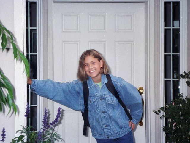 Has anyone else finished watching Everything Sucks? Oh, 1996, you were pretty cool.  I tweeted this picture from my first day of 6th grade at the show, and it has now been seen more than 14,000 times. 🙈😳 Denim-on-denim, some extreme lean... I figured I might as well post it here, too. #tbt