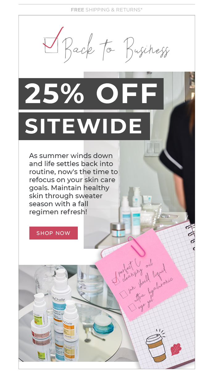 MyChelle | Email Design | Photoshop | Sep 2018