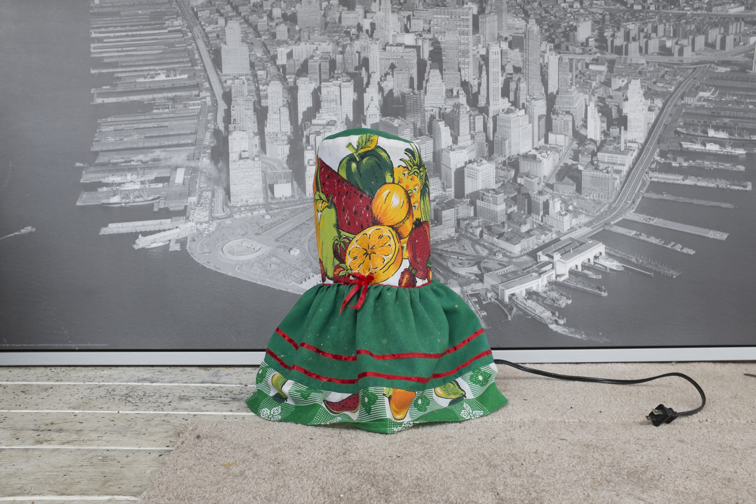 Salvadoran blender cover and photograph of New York City.