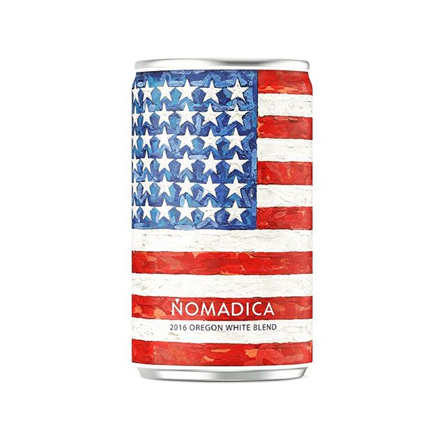 Proud to be AmeriCAN #4thofjuly - We're drinking Red, White Blend & Rosé today // #fantasycan 🇺🇸 #jasperjohns #happybirthday #independenceday #fourthofjuly #july4th #redwhiteandblue