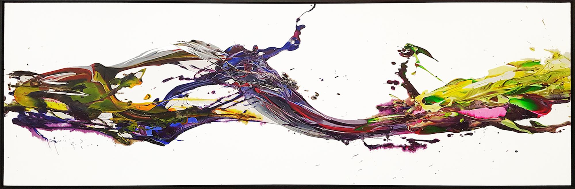"""SP² #43, 2017, acrylic on canvas, 36"""" x 96"""" (91.4 x 243.84 cm)"""
