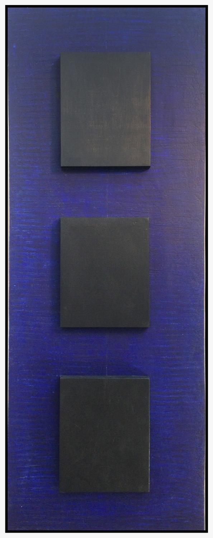 "Simply Formal #3, 2016, acrylic on panel, 17.8"" x 46.8"" (45 x 119 cm)"