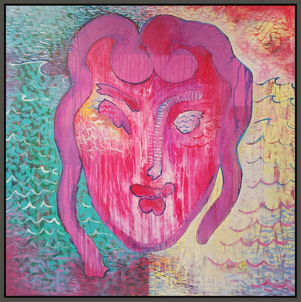 "Matisse #2, 2016, acrylic on canvas, 48"" x 48"" (122 x 122 cm)"