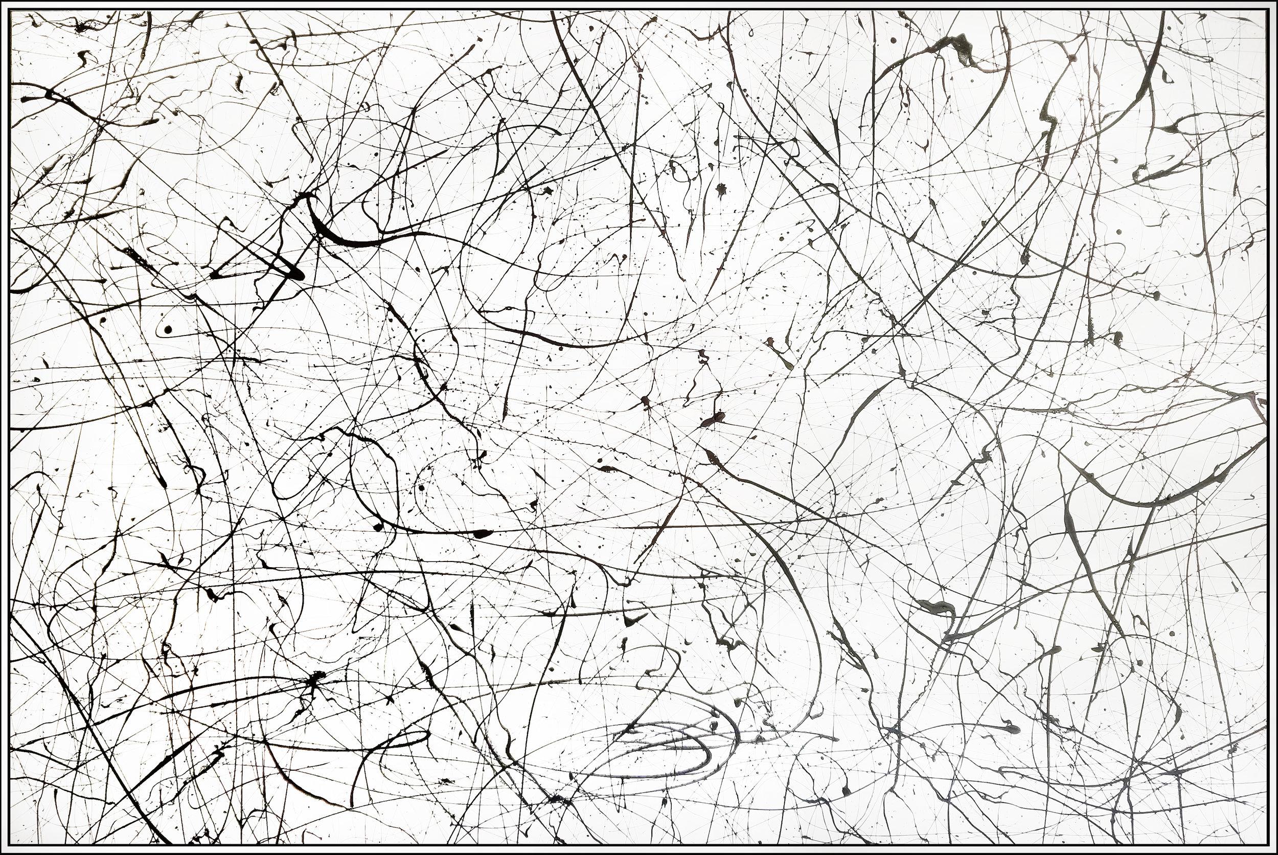 "Winter Paradise #14, 2018, acrylic on canvas, 48"" x 72"" (122 x 183 cm)"