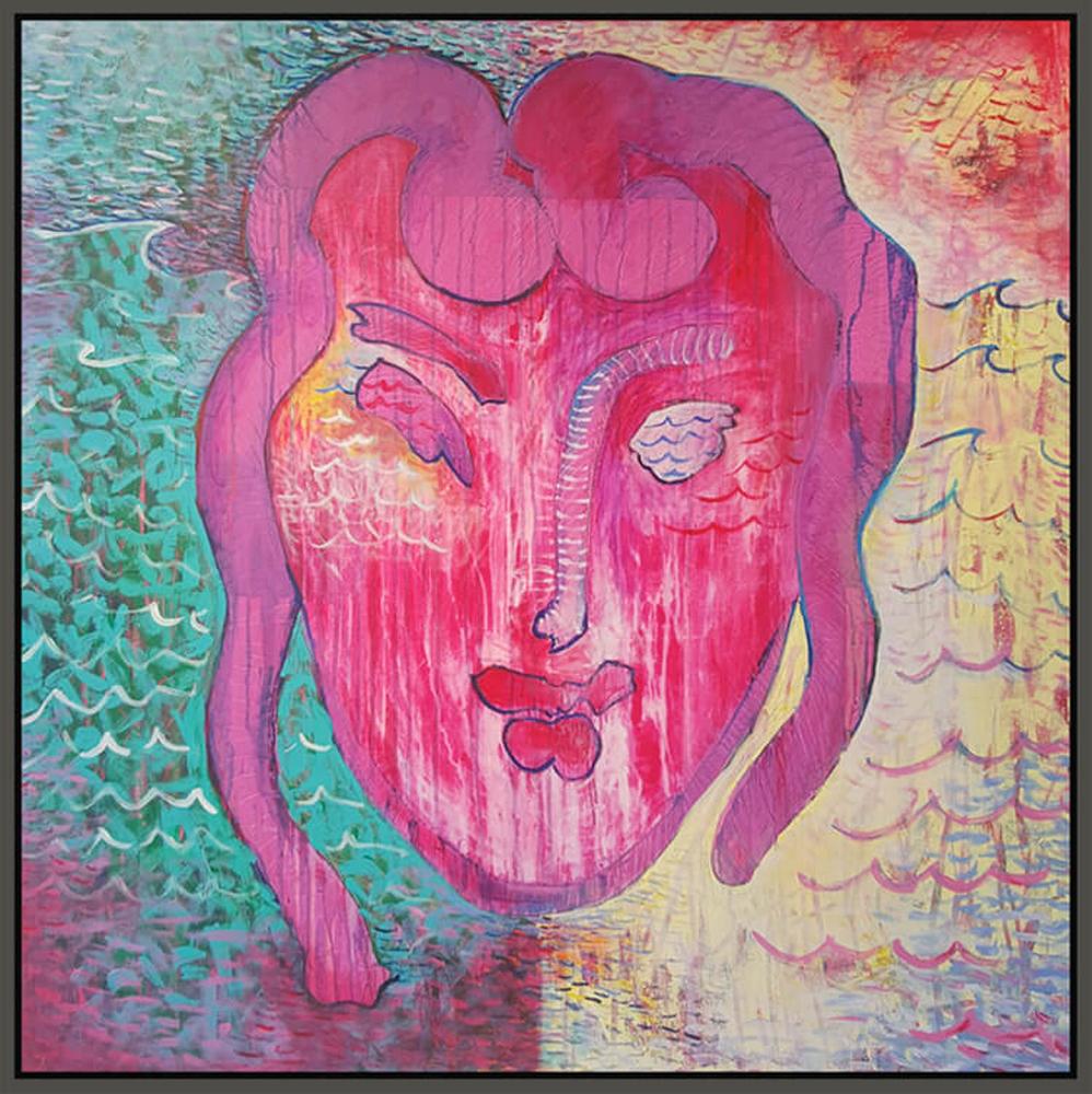 "Matisse #2, 2016, acrylic on canvas, 48"" x 48"" (121.9 x 122 cm)"