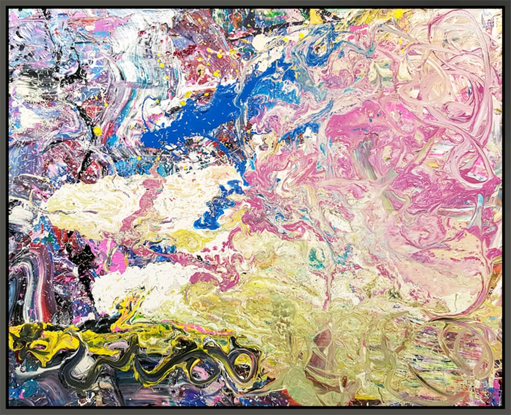 "Untitled #160, 2016, mixed media on canvas, 48"" x 60"" (122 x 152.4 cm)"