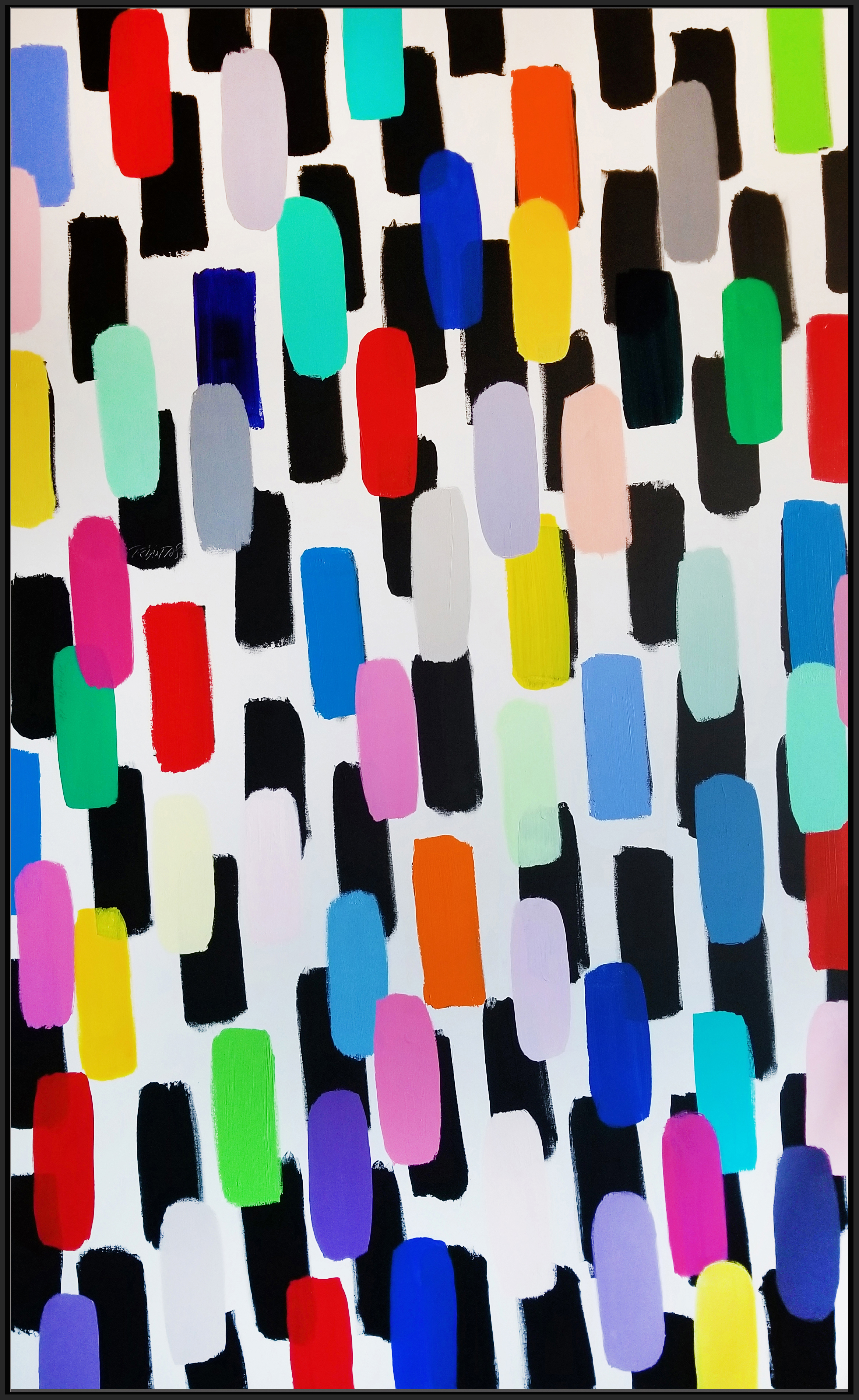 "Jelly Bean #55, 2018, acrylic on canvas, 96"" x 60"" (152.4 x 243.8 cm) in New York, USA"