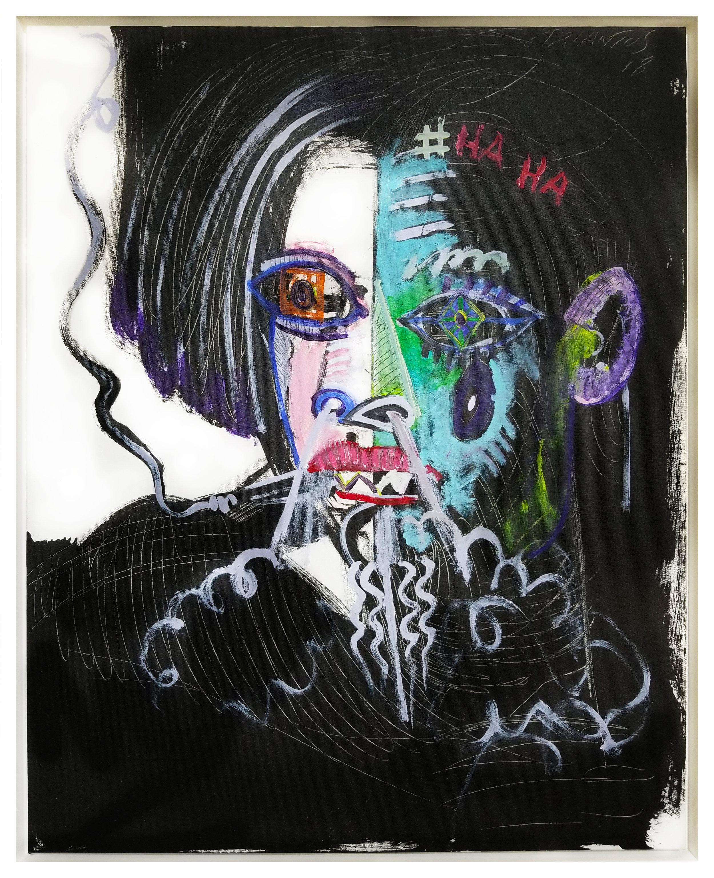 "Untitled #83, 2018, acrylic on canvas, 30"" x 24"" (76 x 61 cm)"