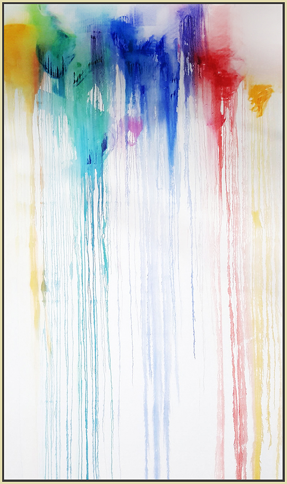 "Splash of Colour #28, 2017, oil on canvas, 120"" x 72"" (305 x 183 cm)"