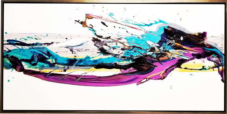"""SP² #63, 2018, acrylic on canvas, 24"""" x 84"""" (60.9 x 213 cm)"""