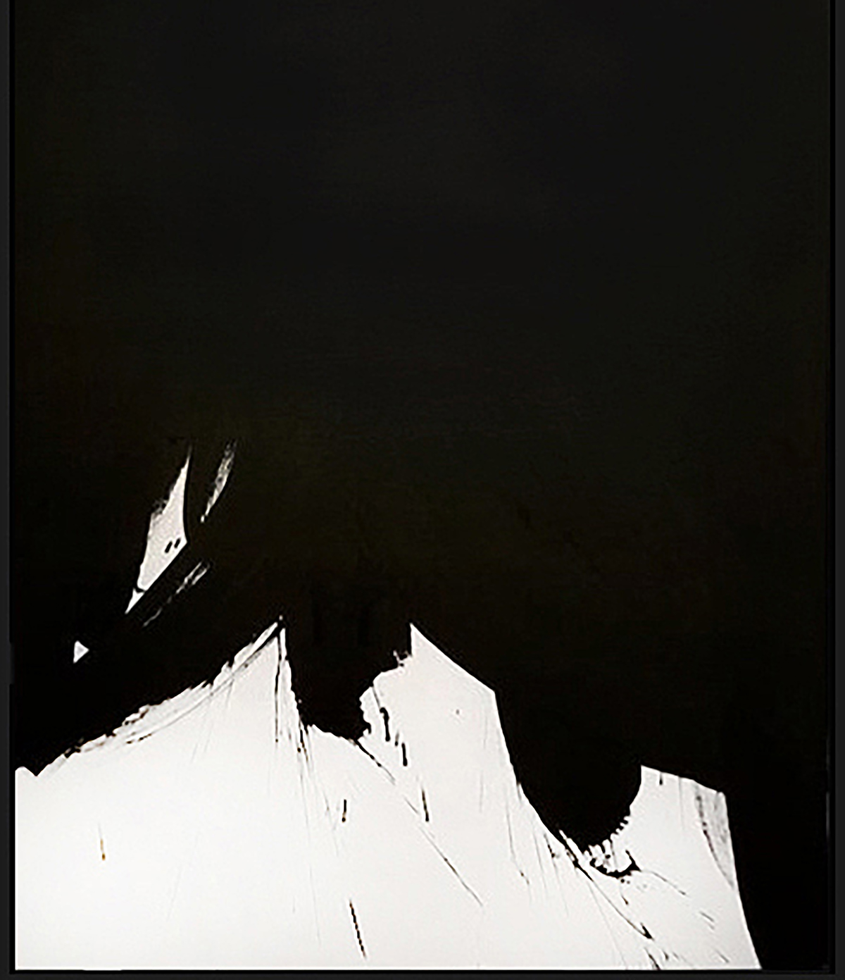 "Black & White #5, 2018, acrylic on canvas, 48x36"" (122 x 91.4 cm)"