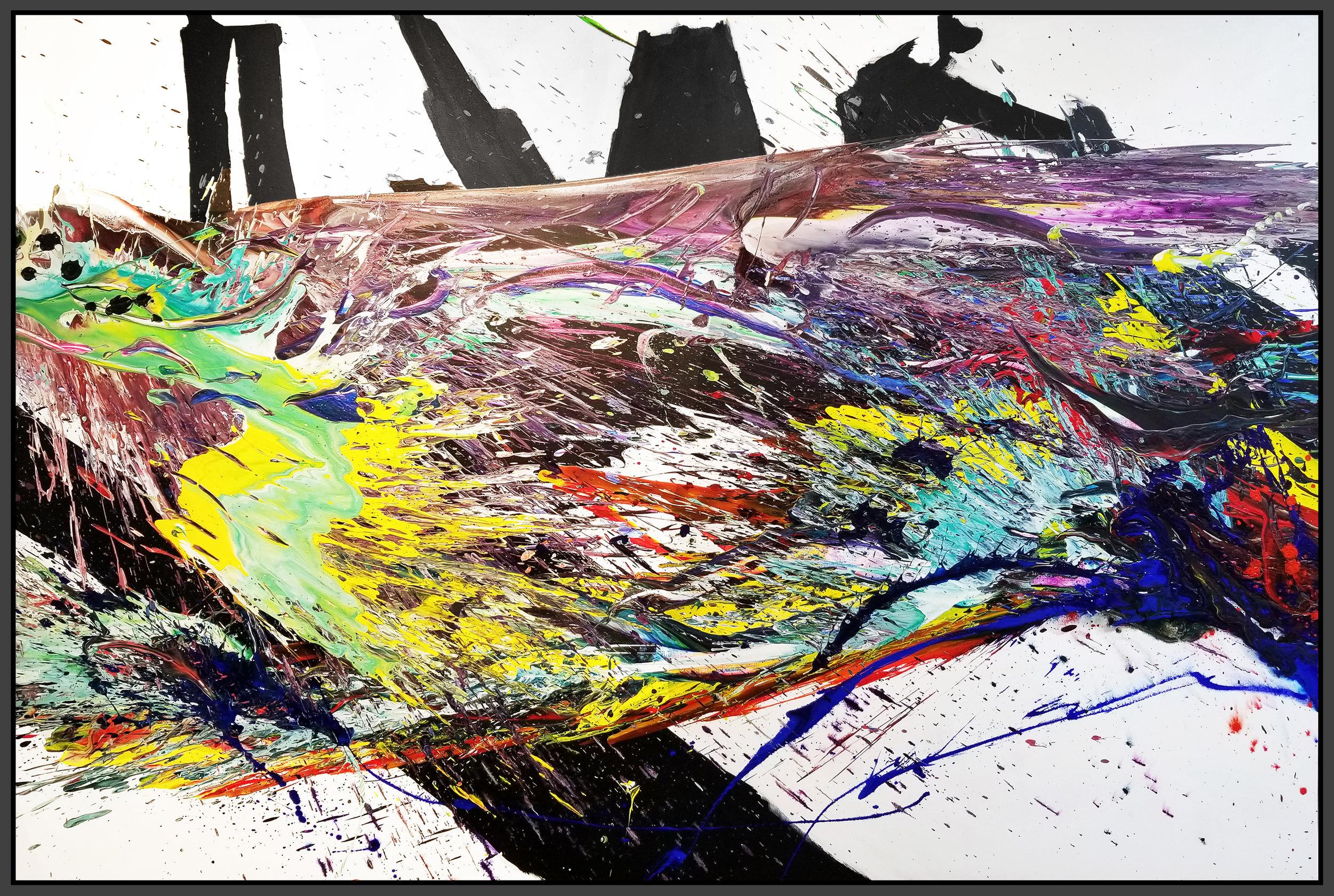 """SP² #97, 2018, acrylic on canvas, 72"""" x 108"""" (183 x 274.3 cm)"""