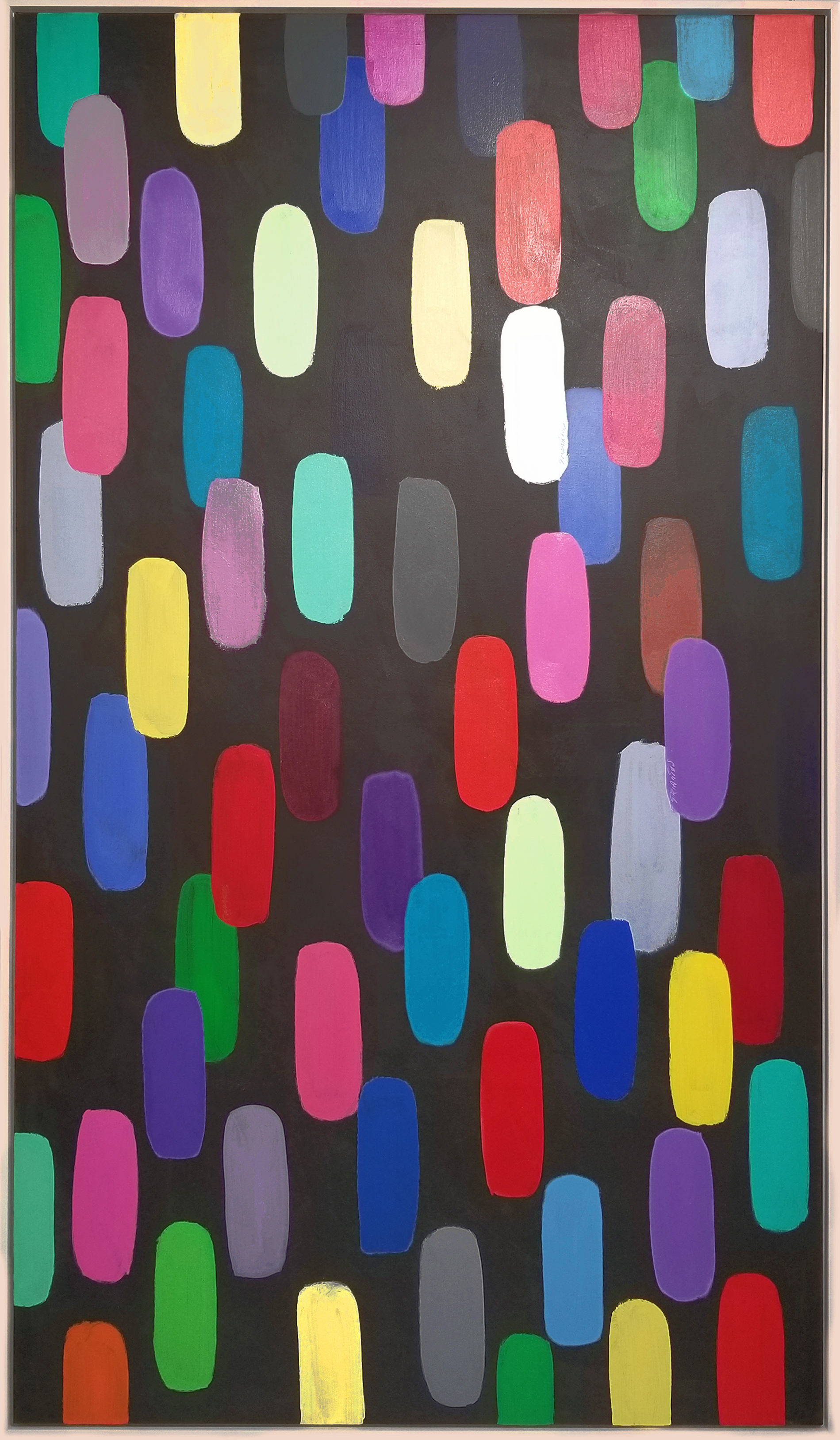 "JB#34, 2018, acrylic on canvas, 84""x48"" (213.4 x 121.2 cm)"