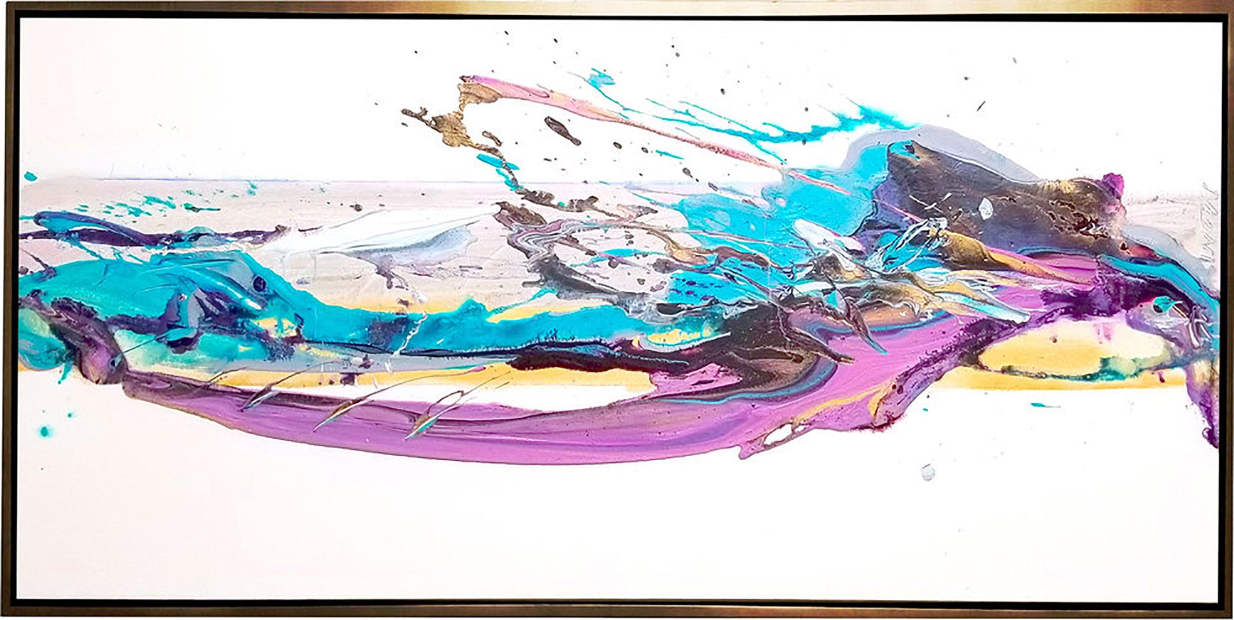 """SP² #63, 2018, acrylic on canvas, 24"""" x 60"""" (60.9 x 152.4 cm)"""