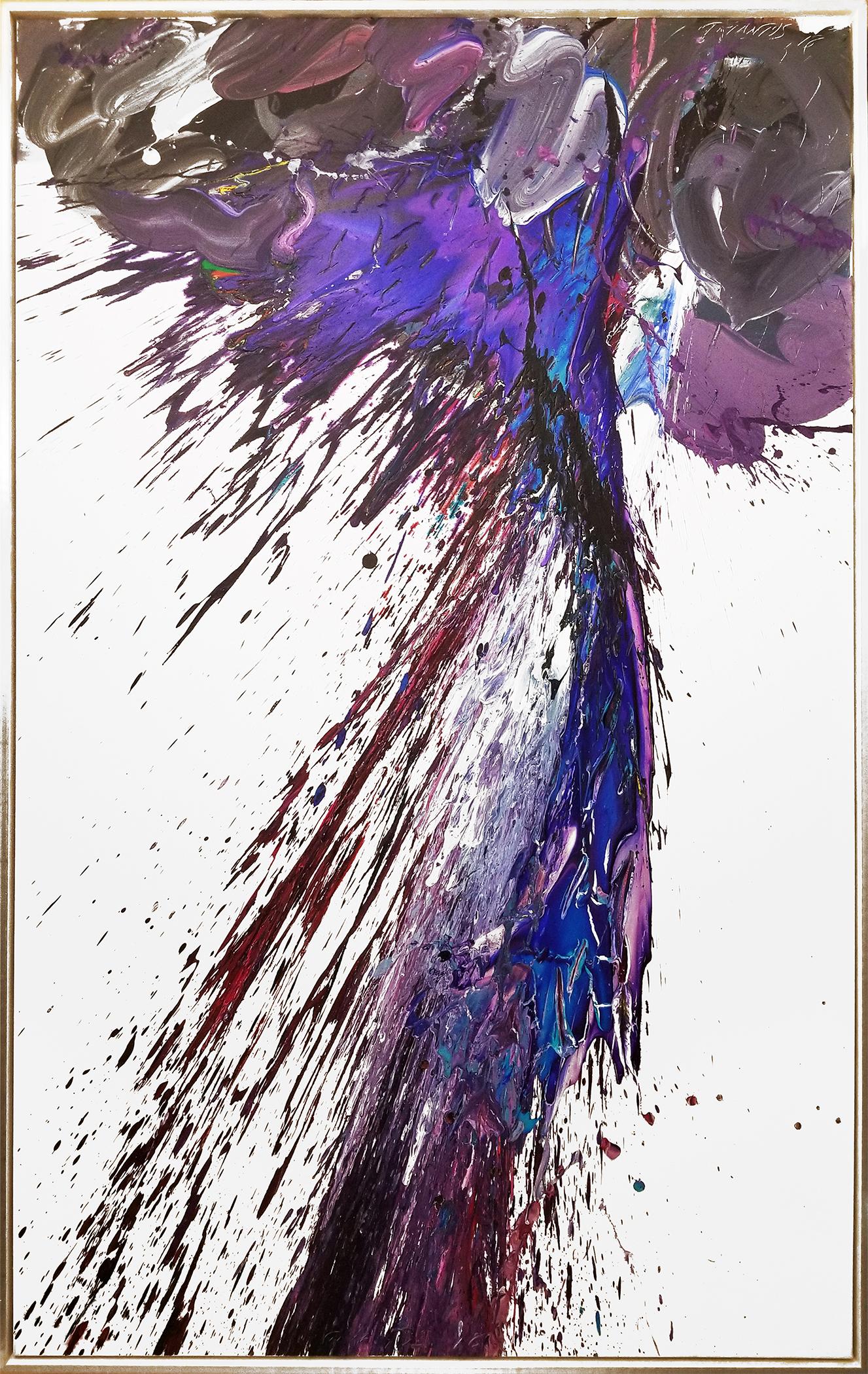 """Storm#8, 2018, acrylic on canvas, 60"""" x 96"""" (152.4 x 244 cm) in Palm Beach, Florida, USA"""