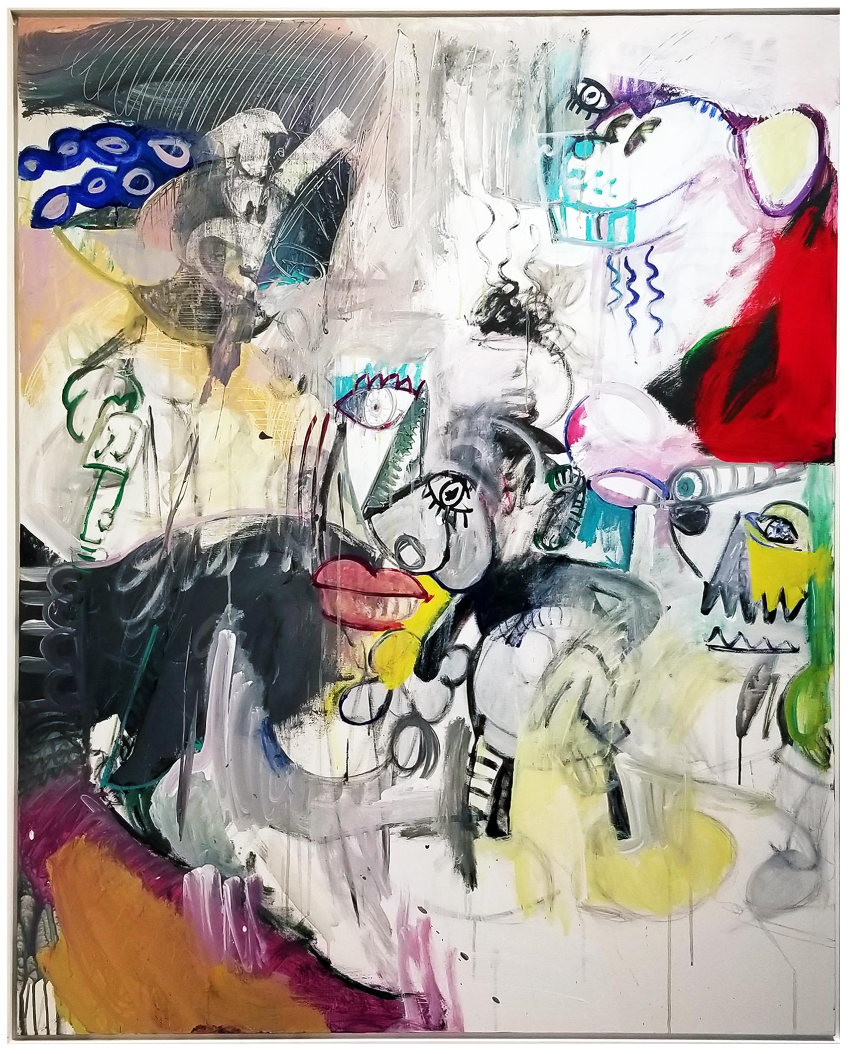 "Untitled#86, 2018, acrylic on canvas, 60"" x 48"" (152.4 x 122 cm)"